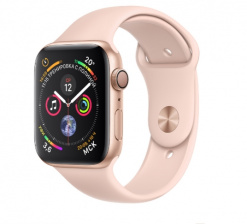Смарт-часы Apple Watch Series 4 Sport 40mm Gold Al/Pink Sand Sport Band (MU682)