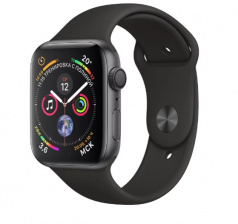 Смарт-часы Apple Watch Series 4 Sport 44mm SpaceGrey Al/Black Sport Band (MU6D2)