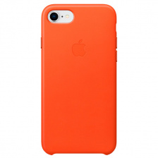 Чехол Apple iPhone 8/7 Leather Case Orange