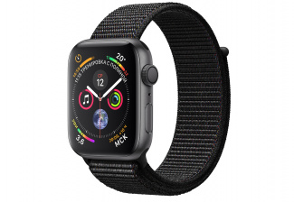 Смарт-часы Apple Watch Series 4 Sport 44mm SpaceGrey Al/Black Sport Loop (MU6E2)