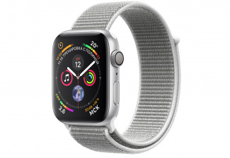 Смарт-часы Apple Watch Series 4 Sport 44mm SilverAl/Seashell Sport Loop (MU6C2)