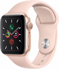 Смарт-часы Apple Watch Series 5 GPS 40mm Gold Sport Band (MWV72)