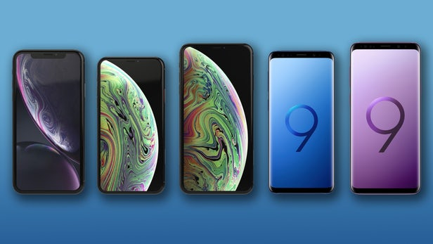 iPhone XR, XS and XS Max, Samsung Galaxy S9 and S9+